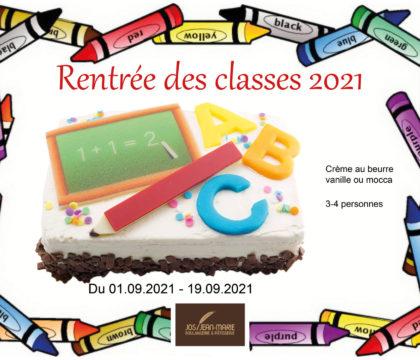 Affiche rentrée des classes 2021